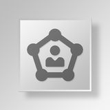 3D Business Network icon Business Concept. 3D Symbol Gray Square Business Network icon Business Concept Royalty Free Stock Photo