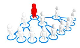 3D business network. Multi-level Marketing or MLM Stock Photography