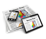 3d business news Stock Photos