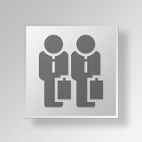 3D business partner icon Business Concept Royalty Free Stock Image