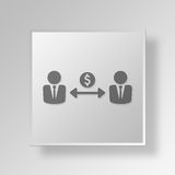 3D business partner icon Business Concept Stock Images