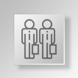 3D business partner icon Business Concept Royalty Free Stock Photos