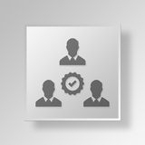 3D business partners icon Business Concept. 3D Symbol Gray Square business partners icon Business Concept Royalty Free Stock Photos