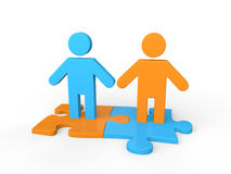 3d business  partnership concept Stock Photo