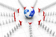 3d business people around the world Royalty Free Stock Photos