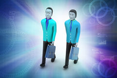 3d business people. In color background Royalty Free Stock Photo