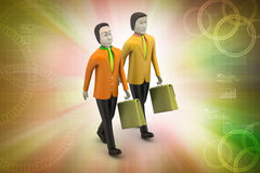 3d business people. In color background Stock Images