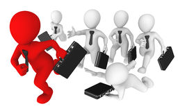 3d business people. Competition concept. Royalty Free Stock Images