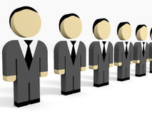 3D business people. 3D illustration Royalty Free Stock Photos