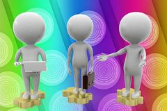 3d business people illustration Stock Image