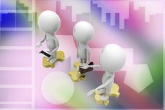 3d business people illustration Stock Images