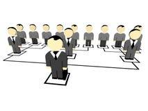 3D business people. Leader. 3D illustration Stock Images