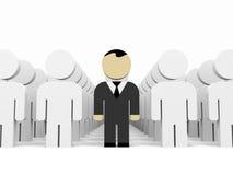 3D business people. Leadership. 3D illustration Stock Photo