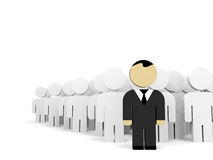 3D business people. Leadership. 3D illustration Royalty Free Stock Photo
