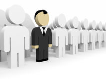 3D business people. Leadership. 3D illustration Stock Photography