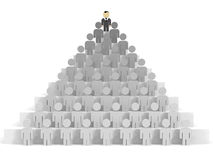 3D business people. Leadership. 3D illustration Royalty Free Stock Photography