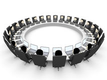 3D business people. Meeting. 3D illustration Royalty Free Stock Photos