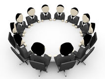 3D business people. Meeting. 3D illustration Royalty Free Stock Photography