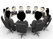 3D business people. Meeting. 3D illustration Stock Images