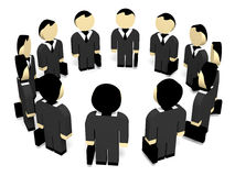 3D business people. Meeting. 3D illustration Stock Image