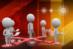 3d business people network concept illustration Royalty Free Stock Images