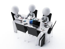 3d Business people in a Office meeting room. 3d renderer image. Business people in a Office meeting room. Business partners Stock Image