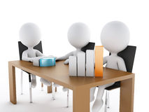 3d Business people in a Office meeting room. 3d renderer image. Business people in a Office meeting room. Business partners on white background Stock Image