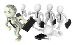 3d business people pursuit to success. Royalty Free Stock Images