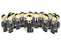 3D business people. Team work. 3D illustration Stock Images