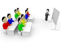 3D business people. Training. 3D illustration Stock Photo
