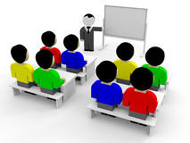 3D business people. Training. 3D illustration Royalty Free Stock Photos