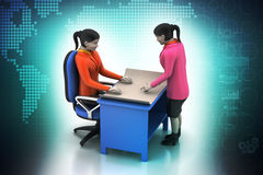 3d business people working. In color background Royalty Free Stock Photo