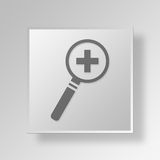 3D business person icon Business Concept. 3D Symbol Gray Square business person icon Business Concept Royalty Free Stock Photos