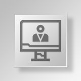 3D business person icon Business Concept. 3D Symbol Gray Square business person icon Business Concept Royalty Free Stock Images