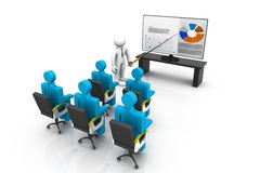 3d business persons at a Presentation. Business growth analyzing Royalty Free Stock Photography