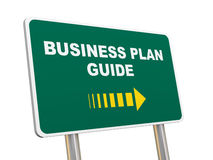 3d business plan guide road sign Stock Images