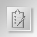 3D business plan icon Business Concept Royalty Free Stock Images