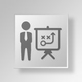 3D business plan icon Business Concept Stock Images