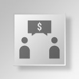 3D business plan icon Business Concept Royalty Free Stock Photos