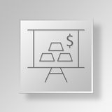 3D business plan icon Business Concept Stock Image