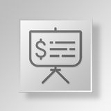 3D business presentation icon Business Concept. 3D Symbol Gray Square business presentation icon Business Concept Stock Images
