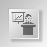 3D business presentation icon Business Concept. 3D Symbol Gray Square business presentation icon Business Concept Royalty Free Stock Photography