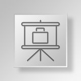 3D business presentation icon Business Concept. 3D Symbol Gray Square business presentation icon Business Concept Royalty Free Stock Photos