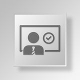 3D business presentation icon Business Concept. 3D Symbol Gray Square business presentation icon Business Concept Stock Photography