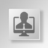 3D business profile icon Business Concept Royalty Free Stock Photos