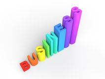3D Business rising graph progress concept Royalty Free Stock Image