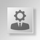3D Business Specialist icon Business Concept Stock Image