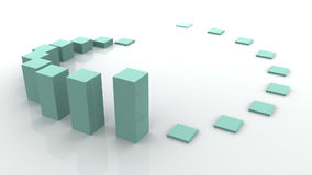 3d business statistics Stock Photos