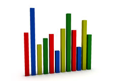 3d business statistics Royalty Free Stock Photography