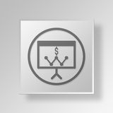 3D business strategy icon Business Concept. 3D Symbol Gray Square business strategy icon Business Concept Stock Photo